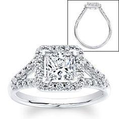 Princess Cut & Round Diamond Ring (1.50 ctw)  Platinum $5,999.99