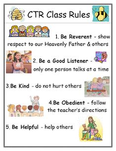If you could pick 5 rules for a CTR 4 class - what would they be???   -----   Think of a class where the kids don't like to sit in their seats, don't like to keep their shoes on, don't like to wait their turn to talk, don't like to listen to the teacher, sometimes wrestle other kids etc etc.       Thanks! :D  - Page 2