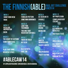 The Finnish(able) Nail Art Challenge AW2014. Will you too join us? More info on the blog. :)