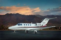 The Cessna Citation Jet combines comfort, versatility and reliability with low operating costs for a private jet. The Jet has the ability to take off and land on a runway as short as 2,590ft and is the logical alternative to a turbo-prop aircraft. To charter an aircraft, call one of our helpful associates at (888) 594-7141.