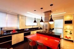 cozinha vermelha e preta - Pesquisa Google