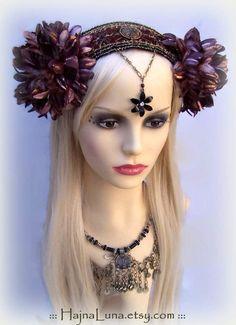 Tribal Fusion Headdress, Festival Headdress by HajnaLuna #tribalfusion
