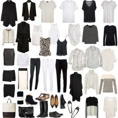 "I travel quite a bit and need things that I can build a wardrobe around. Get multiple outfits out of! My Capsule Wardrobe ~ Minimal + Classic: ""Untitled by coffeestainedcashmere Capsule Wardrobe, Wardrobe Basics, Work Wardrobe, White Wardrobe, Professional Wardrobe, Style Work, Mode Style, Look Fashion, Autumn Fashion"