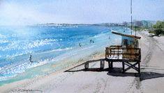 Cocoa Beach Painting - Coca Beach by Sandra Strohschein