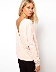 ASOS Drape Back Sweater