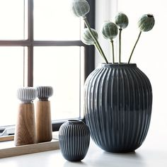Use the anthracite Hammershøi vase as an elegant centrepiece vase