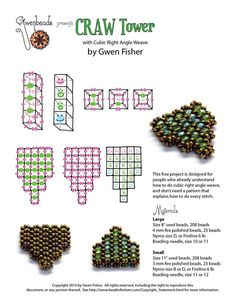 A good practice project for cubic right angle weave CRAW.~ Seed Bead Tutorials