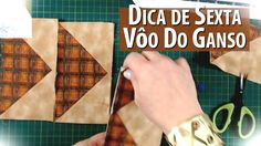 VÔO DO GANSO/FLYING GEESE - Dica de Sexta (Tutorial Patchwork)