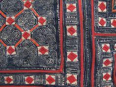Vietnam. Indigo textiles.