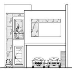 plano casa fachada monterrey