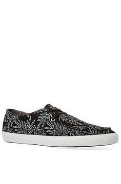 Vans Footwear Sneaker Rata Vulc in Black & Pewter Aloha Leaf Black