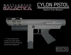 BSG - Cylon Pistol Paper Model by RocketmanTan on DeviantArt