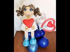 Ballon Animals, Ballon Decorations, Videos, Smurfs, Balloons, The Creator, Nurses, Make It Yourself, Disney Princess