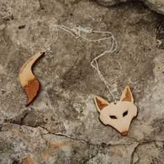 Fox Head and Tail Necklace by Vinca