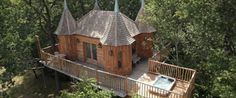 Pinned from the I Spy Camping blog: A Chateau in the Trees - Glamping anyone?