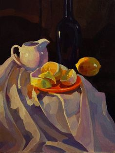 "Saatchi Art Artist Anastasia Yaroshevich; Painting, ""Still Life with Lemon"" #art"