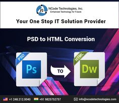 Do you have PSD ready and looking to convert it in a nice HTML/CSS website?  Convert your PSD to HTML/CSS website at affordable rate. We have a team of website designer who are expert in converting PSD into a responsive HTML/CSS website.