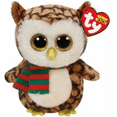 Ty Beanies Boo' S-Small-Wise Owl Collectable soft Beanie boo toy Brightly coloured design Highly tactile plush . Ty Beanie Boos, Beanie Boo Party, Beanie Babies, Ty Babies, Christmas Beanie Boos, Christmas Scarf, Christmas Owls, Ty Peluche, Ty Stuffed Animals