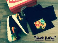 "Custom ""Island Floral"" Nike Roshe Run 