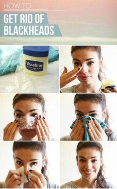 How to get rid of blackheads with Vaseline. Usually, Vaseline is used for making skin smooth and removing the dead skin cell by moisturizing the skin. Beauty Make-up, Beauty Secrets, Beauty Care, Beauty Skin, Natural Beauty, Beauty Ideas, Natural Skin, Face Beauty, Get Rid Of Blackheads