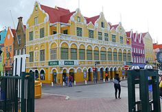 Dutch architecture in Willemstad, Curacao.