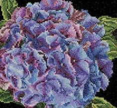 Thea Gouverneur Hydrangea On Aida Counted Cross Stitch 18 Count Hydrangea Bloom, Hydrangea Bouquet, Hardanger Embroidery, Ribbon Embroidery, Buy Hydrangeas, Needlework Shops, Counted Cross Stitch Patterns, Cross Stitches, Pink And Purple Flowers