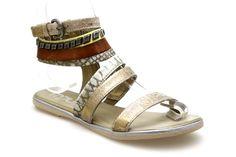 Spartiates MJUS 269004 Kaki / Or - Chaussures femme