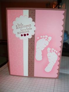 Emboss Resist Baby Girl Card