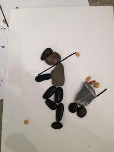 "Pebble Art - ""Golfer"""