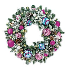 Frosted Holiday Wreath, Solutions #SolutionsPinIt