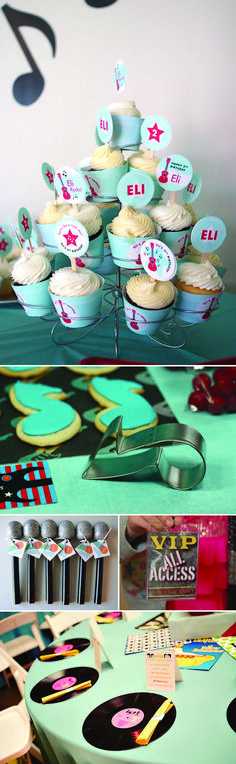 Rock Star Birthday Party Inspiration Board