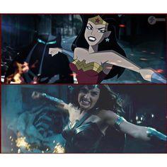 Gal Gadot's Wonder Woman from BvS Trailer; DCAU Style! ------------------------------------------ Art by James Strecker!