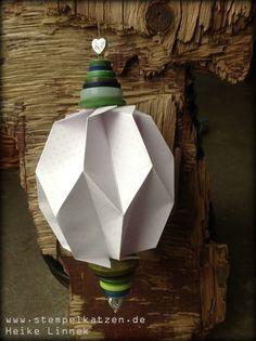 #Plissea - Kugel. Artikel, Test und Buchrezension im Rahmen des großen Blogger-# Adventskalender @frechverlag #Origami #machwas