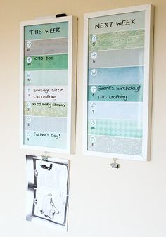DIY This Week/Next Week Frame Planner (Image Credit: A Thousand Words)