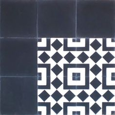 Marrakesh Cement Tile Floor Tile by Villa Lagoon Tile, available in concrete: Marrakesh Tile in 2 Color Combos Our Marrakesh style tile comes in White and Blue and White and Black cm tiles. Floor Patterns, Tile Patterns, Ceramic Floor Tiles, Tile Floor, Black And White Tiles, Solid Black, Stenciled Floor, Outdoor Tiles, Marrakesh