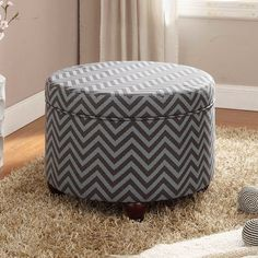 HomePop Fashion Storage Ottoman | AllModern