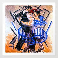 Gino Severini Dance of the Bear Art Print by Jon Baran - X-Small Gino Severini, Giacomo Balla, Georges Braque, Moving To Paris, Italian Painters, Bear Print, Cubism, Buy Frames, Printing Process