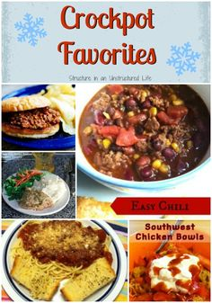 Crockpot Favorites - Structure in an Unstructured Life