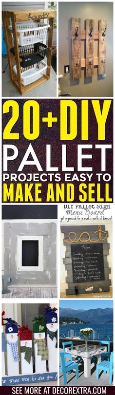 DIY Pallet proejcts That Are Easy to Make and Sell ! Today we present you one collection of 20  DIY Pallet Projects  offers inspiring ideas. You can make so many different type of items with pallets and you
