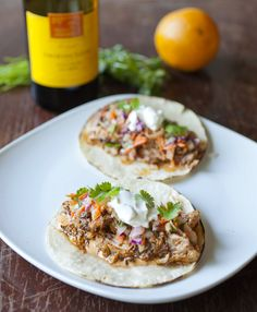 Cuban Pulled Pork Tacos with Red Cabbage and Jicama Slaw and Chipotle Mayo | partial-ingredients