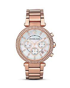 MICHAEL Michael Kors Women's Mother of Pearl Embellished Watch, 39mm | Bloomingdale's