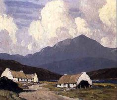 Roadside Cottages by Paul Henry   *Painting  - Achille Island, Ireland.  So beautiful