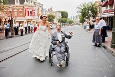A beautiful story of a beautiful couple and a fairy tale wedding. #disneyweddings