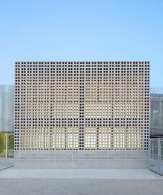 Sensational Breeze Block Spaces | Rita Hello Sport Hall, School Building, Facade Architecture, Barcelona Spain, Home Projects, Skyscraper, Multi Story Building, Home Goods, Schools