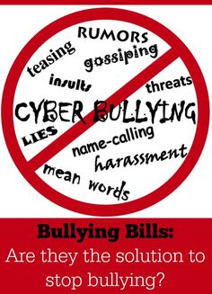 Are Bullying Bills the Solution to Stop Bullying?