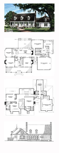Plantation House Plan 86270   Total Living Area: 4256 sq. ft., 5 bedrooms and 4.5 bathrooms. #plantationhome