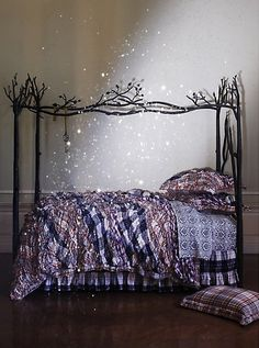 Forest canopy bed #bed #decor #forest  how cute! #bed #decorating #bedroomideas #bedroomdecor #beddecor #homedecor #home #inspiration