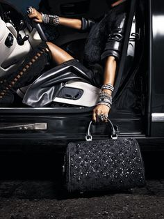 Louis Vuitton black leather
