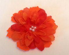 Decorative pet collar accessory  orange flower by WindOnThePrairie, $9.00