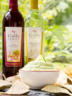 Hatch Chile Avocado Cream Dip will get your party started in a most tasty way. It's creamy avocado combined with hatch chile, sour cream, and lime juice. #SundaySupper with #GalloFamily